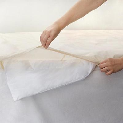 Organic All-Cotton White King Comforter Cover