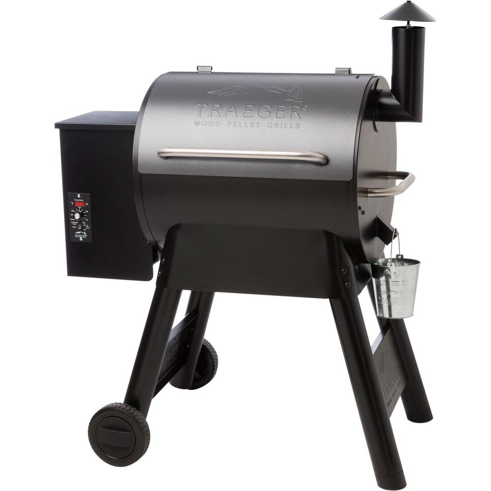 Traeger Eastwood 22 Wood Pellet Grill and Smoker in Silver Vein