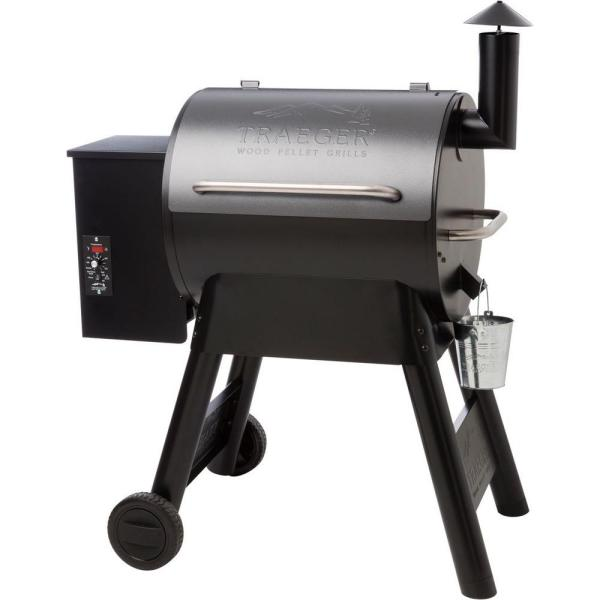Traeger Eastwood 22 Wood Pellet Grill And Smoker In Silver Vein Tfb42dvbo The Home Depot