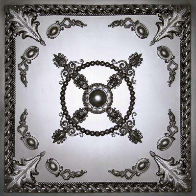 Alexander Black 2 ft. x 2 ft. Lay-in or Glue-up Ceiling Panel (Case of 6)