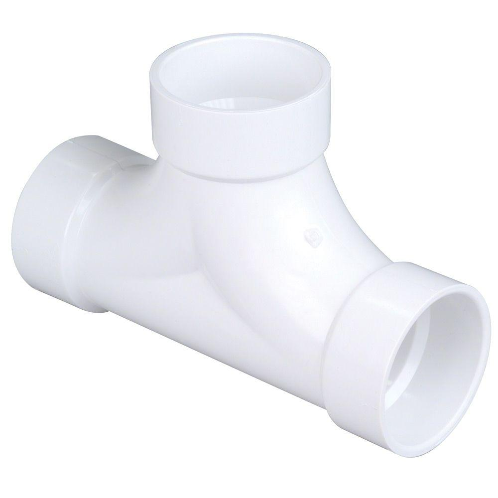 3 in. PVC DWV All-Hub 2-Way Cleanout Tee