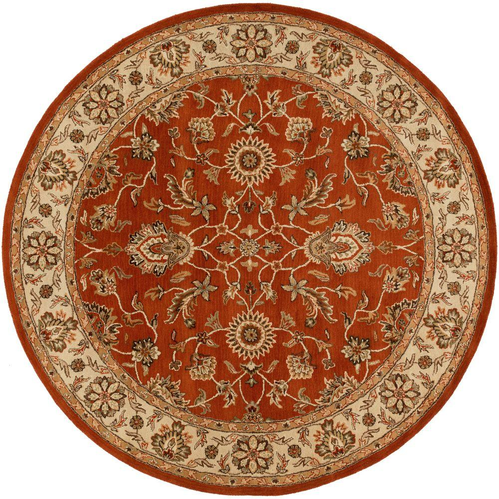 Middleton Charlotte Rust 8 ft. x 8 ft. Round Indoor Area