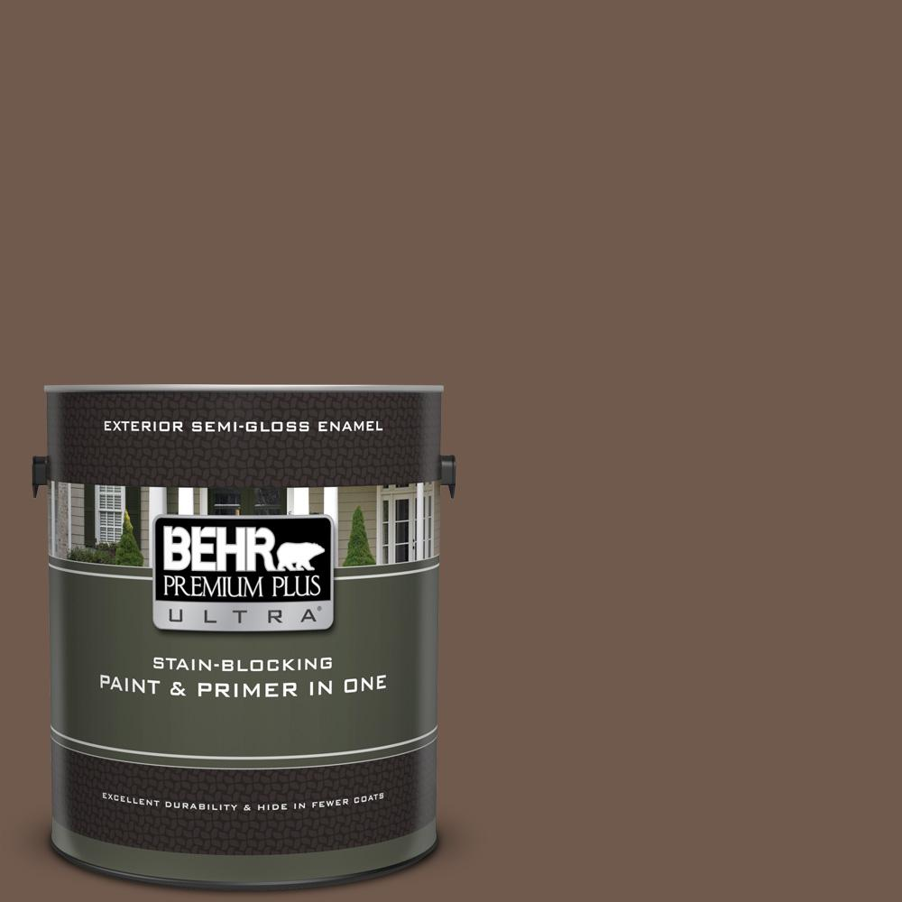 Ppf 52 Rich Brown Semi Gloss Enamel Exterior Paint And Primer In One
