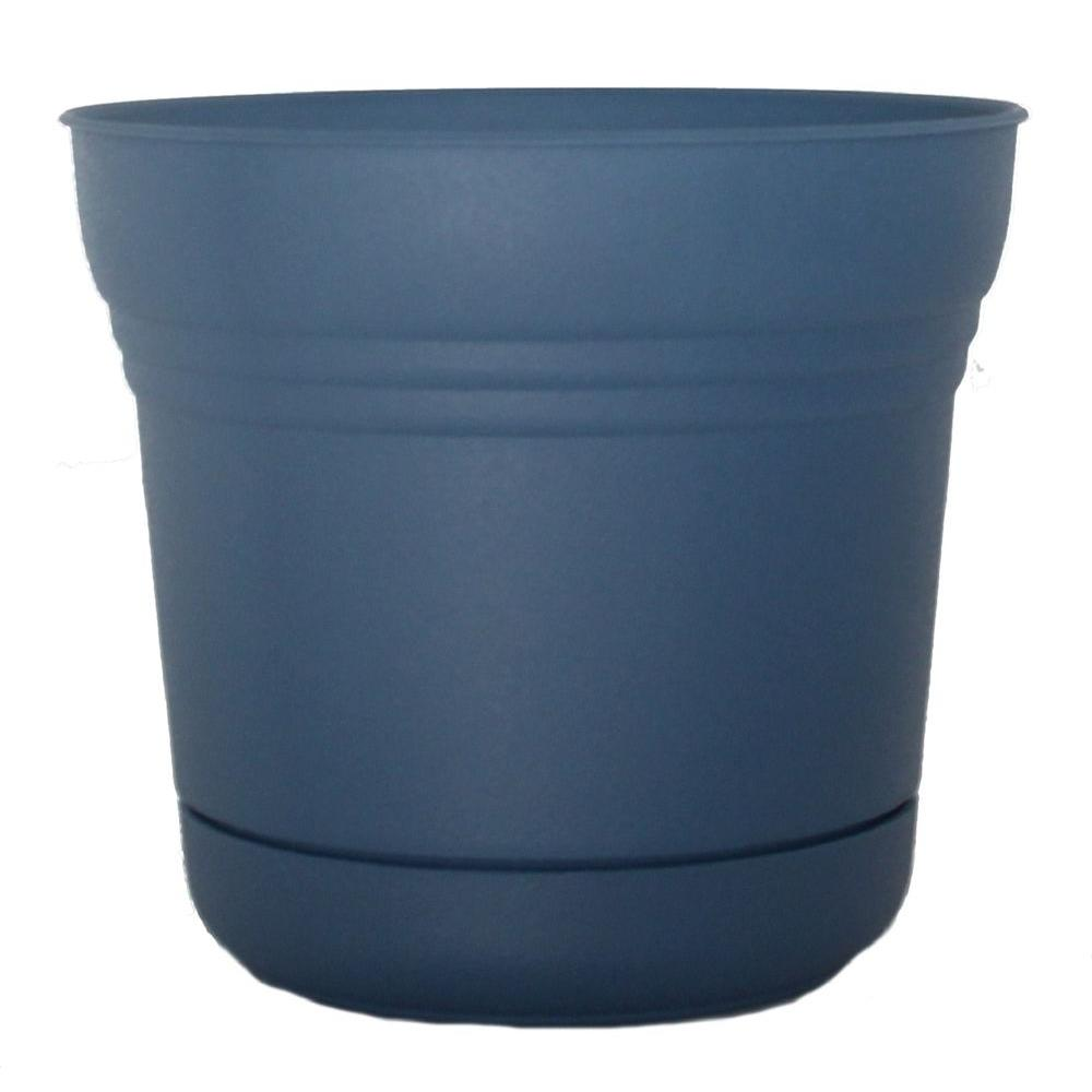 Bloem 5 in. Plastic Blue Saturn Planter (12-Pack)-DISCONTINUED