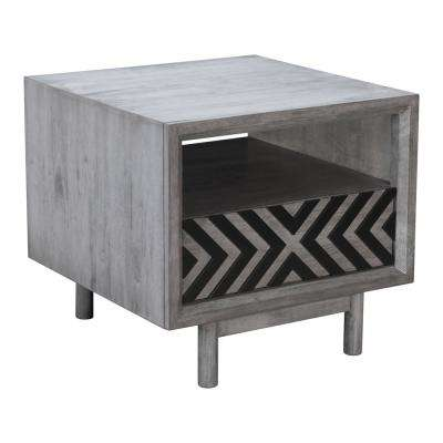 Raven Old Gray End Table