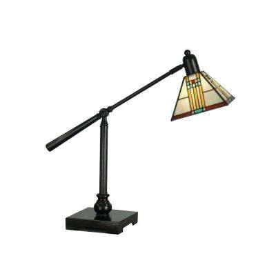 Mica Bronze Bank Table Lamp