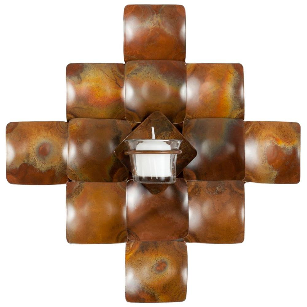 Safavieh Votive 11 in. x 11 in. Wall Decor Candle Sconce,...