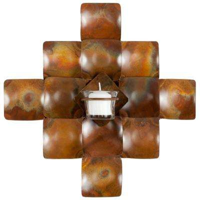 Votive 11 in. x 11 in. Wall Decor Candle Sconce