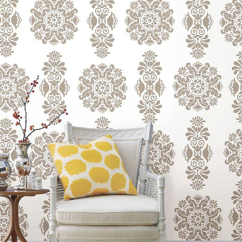 13 in. x 13 in. Kolkata Dot and Jewels 4-Piece Wall