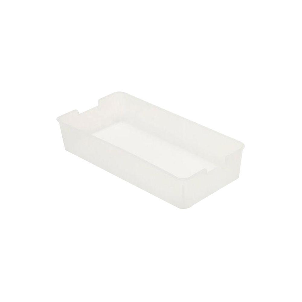 b+in 6.6 in. x 2.6 in. x 13.2 in. Plastic Half Tray in Clear (4 Pack)