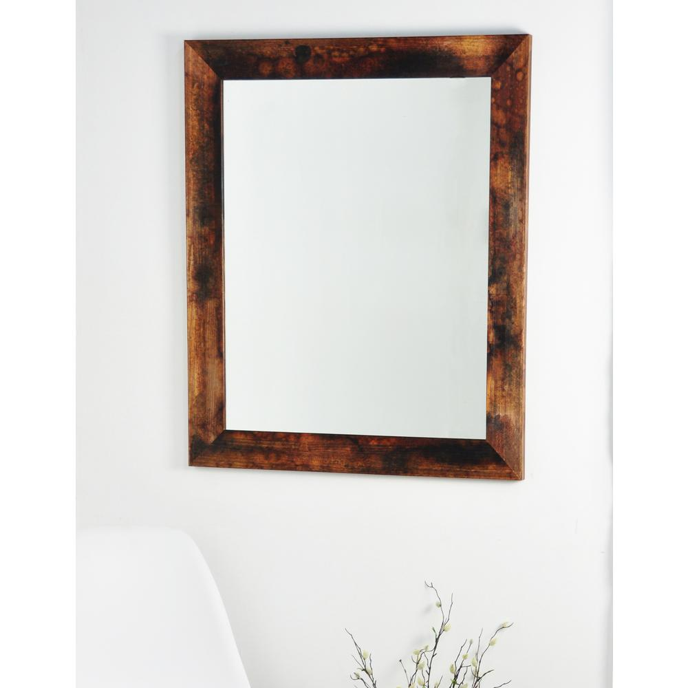 Marbled Mahogany Wall Mirror