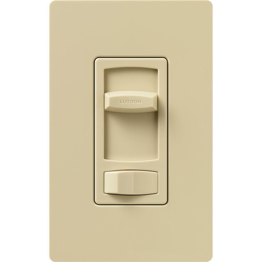 Lutron Skylark Contour 1.5-Amp Single-Pole/3-Way Quiet 3-Speed Slide-to-Off Fan Control - Ivory