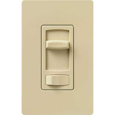 Skylark Contour 1.5-Amp Single-Pole/3-Way Quiet 3-Speed Slide-to-Off Fan Control - Ivory