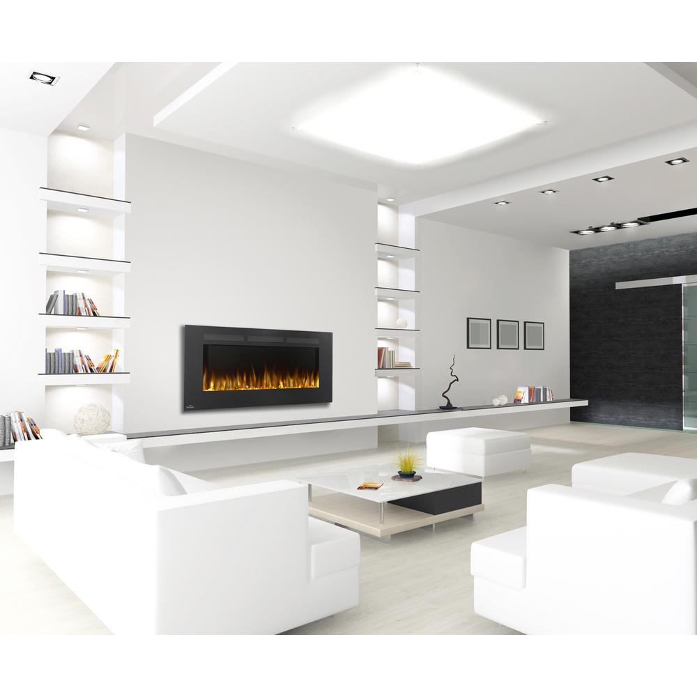 napoleon allure 50 in linear wall mount electric fireplace