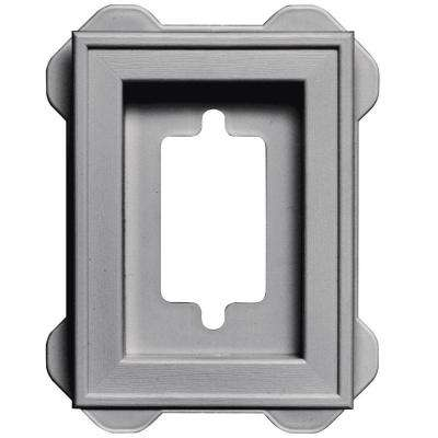 4.5 in. x 6.3125 in. #016 Gray Recessed Mini Mounting Block