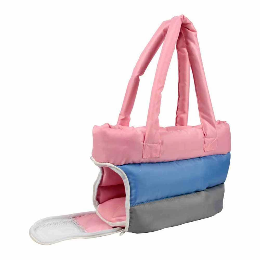 b2c6727473f4 PET LIFE Bubble-Poly Tri-Colored Insulated Pet Carrier-B30PKBLMD ...