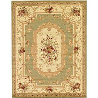 Traditional Versailles Green 10 ft. x 13 ft. Rug