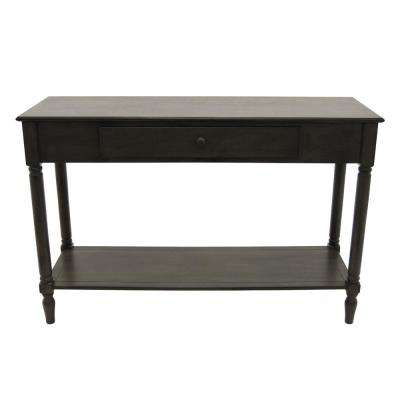 30 in. Brown Wood Console Table with Drawer