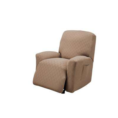 Wheat Newport Recliner Stretch Slipcover