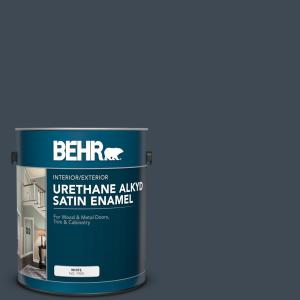 1 gal. #BXC-26 New Navy Blue Urethane Alkyd Satin Enamel Interior/Exterior Paint