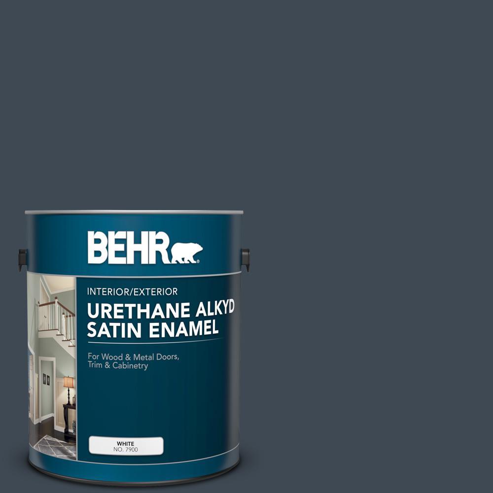 1 gal. #BXC-26 New Navy Blue Urethane Alkyd Satin Enamel Interior/Exterior Paint