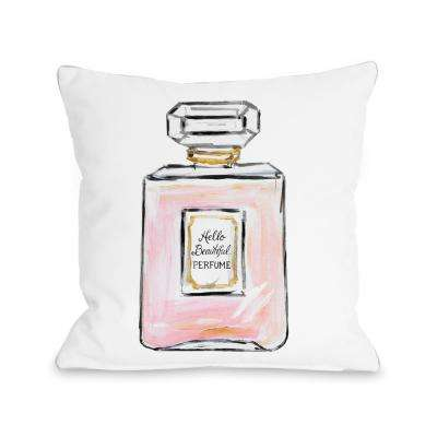 Hello Beautiful and Multiple Perfumes 16 in. x 16 in. Decorative Pillow