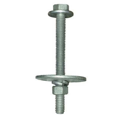 3/8 in. Dia. x 3-1/2 in. L Bolt with Large Flat Washer Kit for Dock Float Drum Installation (12-Pack)