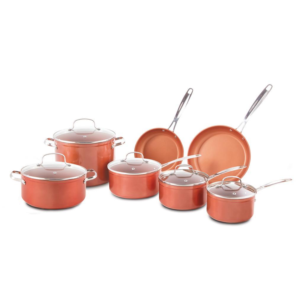 12-Piece Forged Aluminum Cookware Set