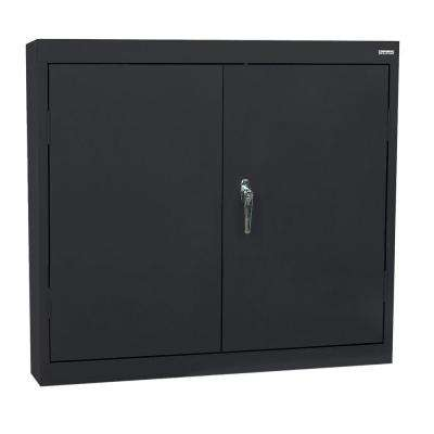 30 in. H x 30 in. W x 12 in. D Wall Cabinet in Black