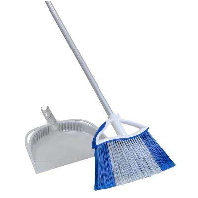 14.5 in. Dual Action Large Angle Broom and Dust Pan Set