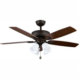 Hampton Bay Brookedale II 60 in. Indoor Brushed Nickel ... on