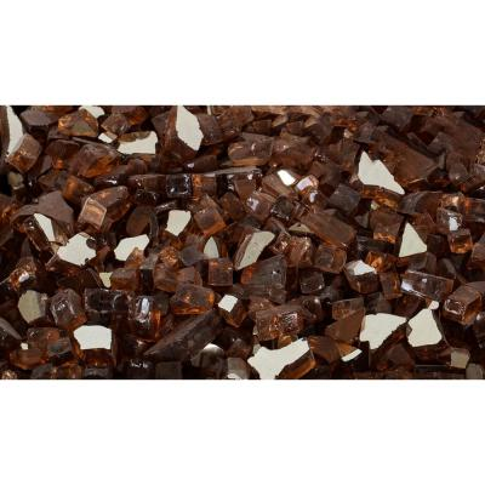 20 lbs. Amber Tempered Glass Rocks