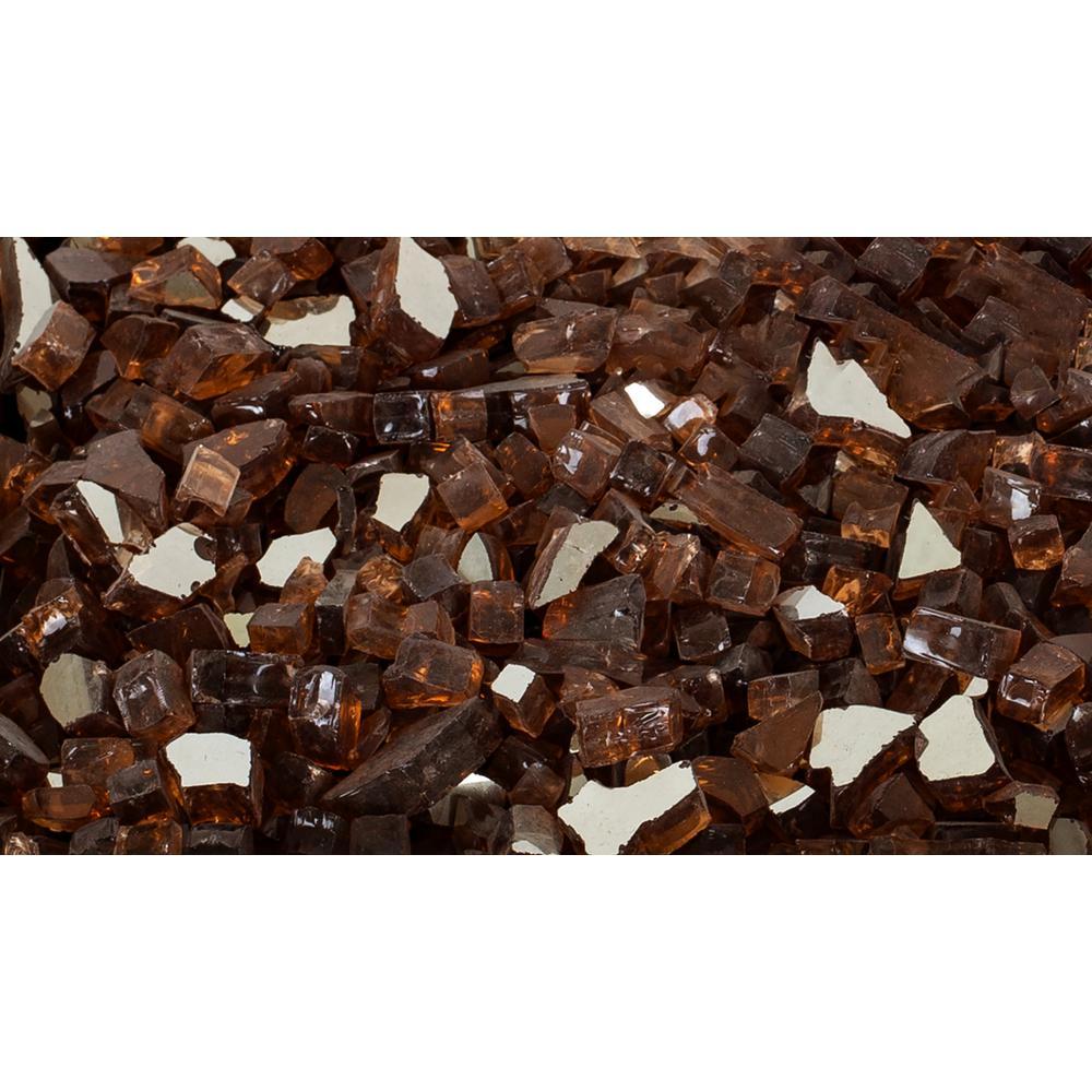 Pleasant Hearth 10 lbs. Amber Tempered Glass Rocks