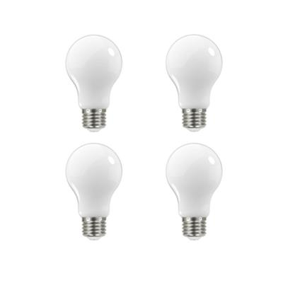 60-Watt Equivalent A19 Dimmable Frosted Filament LED Light Bulb Soft White (4-Pack)