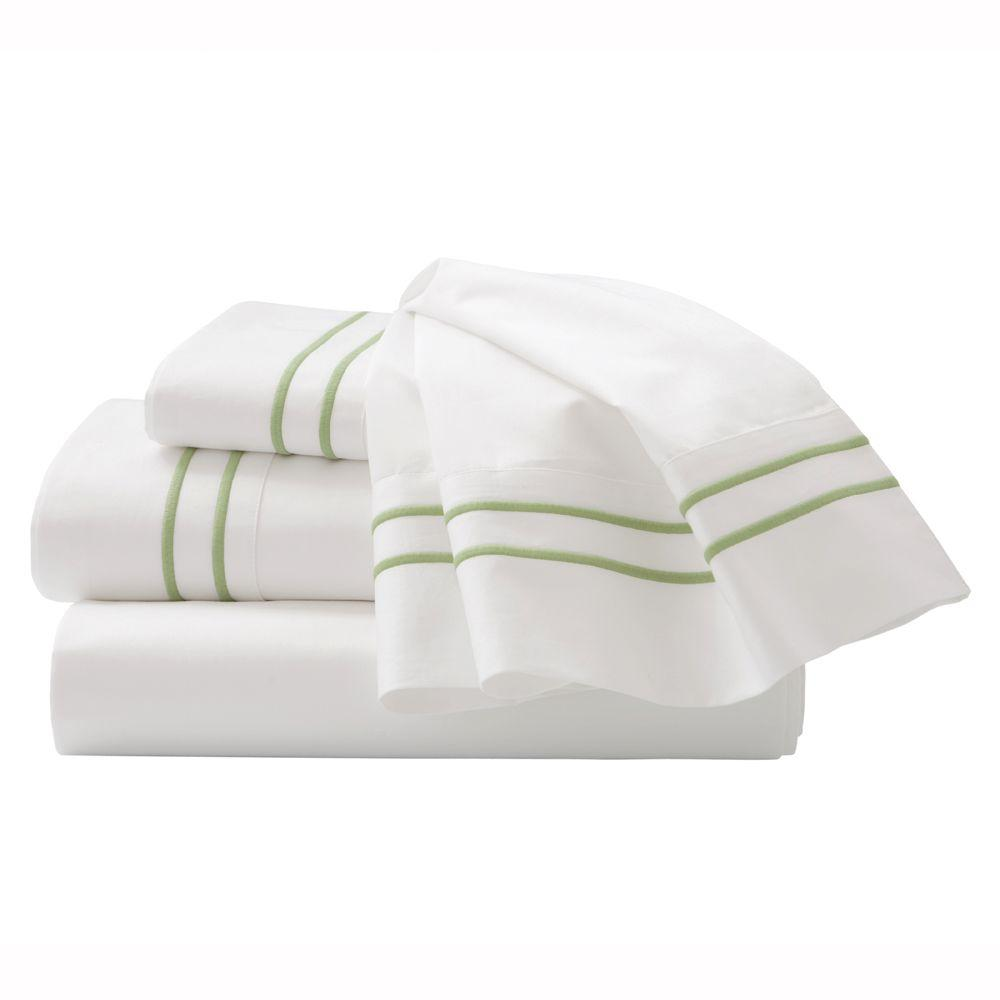 Home Decorators Collection Embroidered Cottage Hill Twin Sheet Set