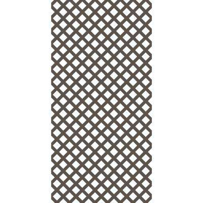 4 ft. x 8 ft. Mustang Brown Traditional Vinyl Lattice (2-Pack)