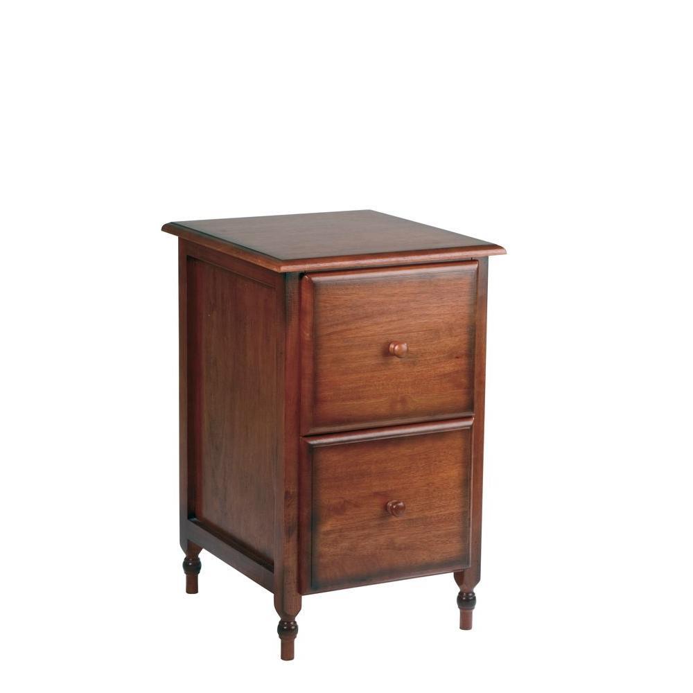 Knob Hill Cherry Wood File Cabinet