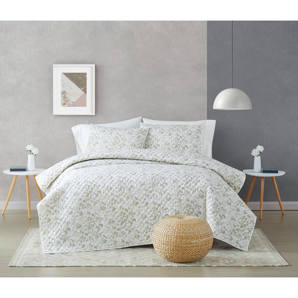 Jasper Grey 2-Piece Twin XL Cotton Quilt Set