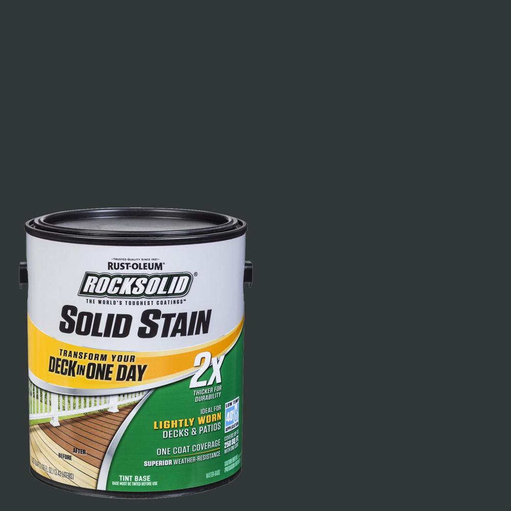 Rust-Oleum RockSolid 1 gal. Black Exterior 2X Solid Stain