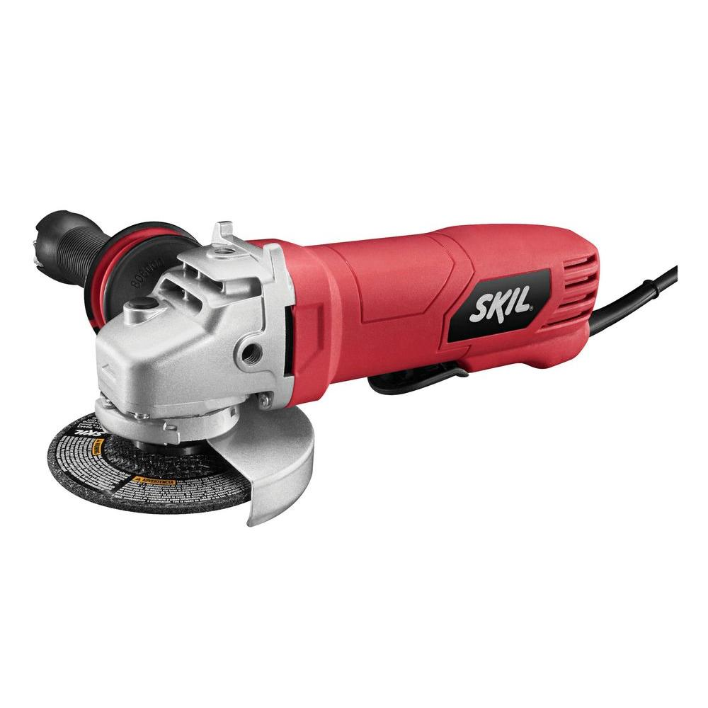 Skil 7.5 Amp Corded Electric 4-1/2 in. Paddle Switch Angle Grinder