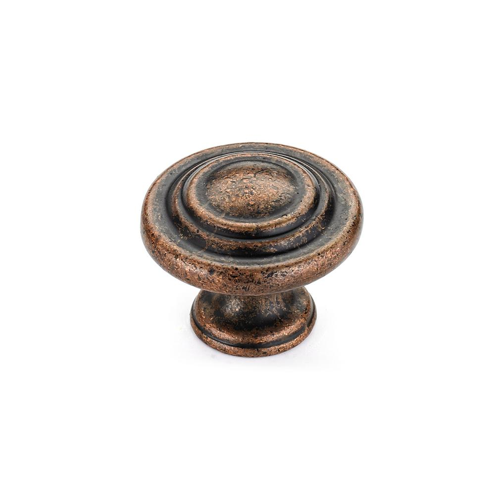 Richelieu Hardware 1-3/8 in. Antique Copper Cabinet Knob - Richelieu Hardware 1-3/8 In. Antique Copper Cabinet Knob-BP10734193