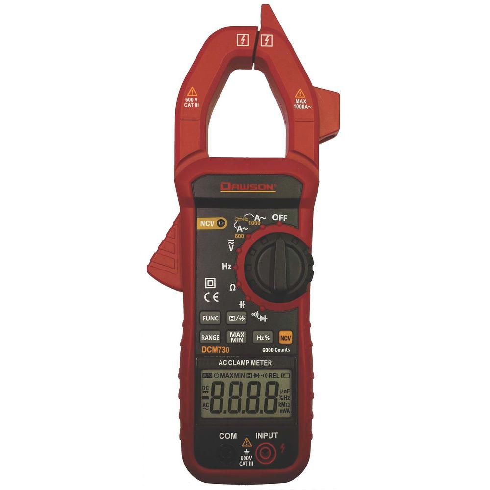 Digital Clamp Meter 31320 : Dawson digital ac clamp meter dcm the home depot