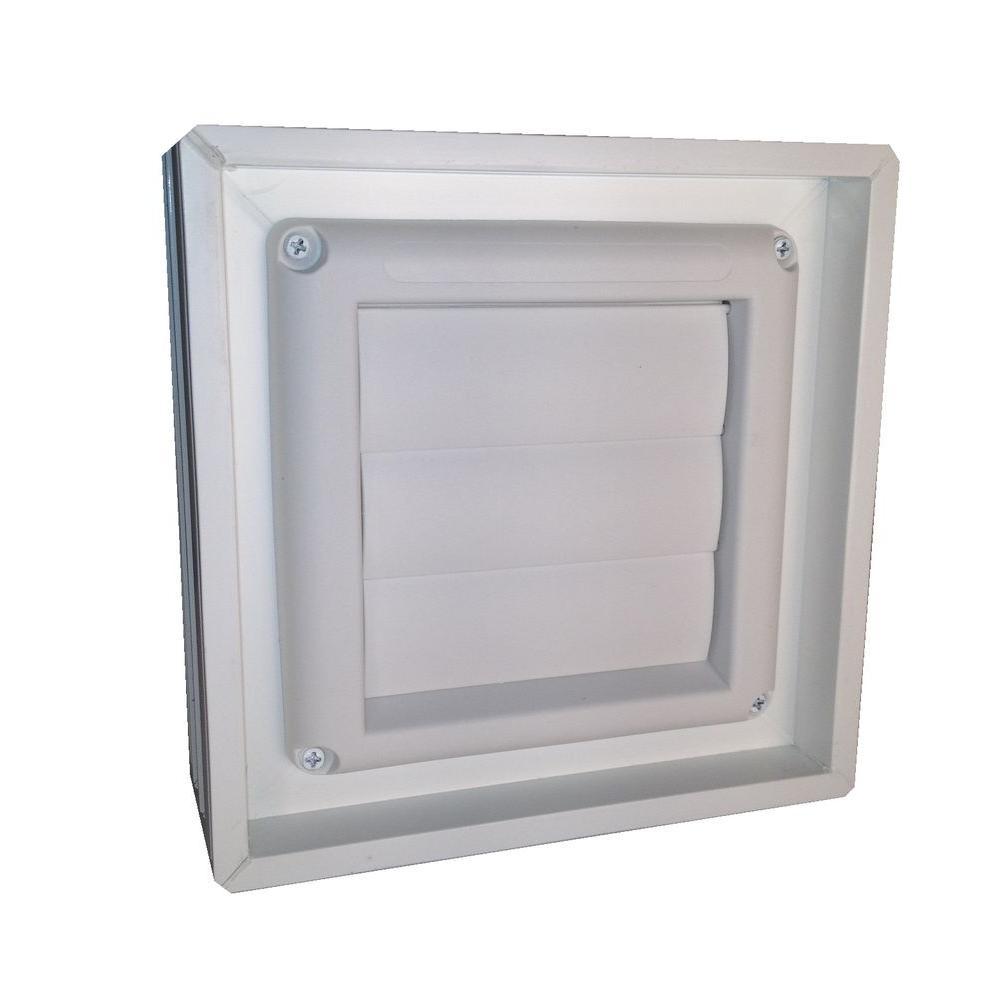 8 in. x 8 in. x 3 in. Obscure Pattern White Dual Pane Glass Block