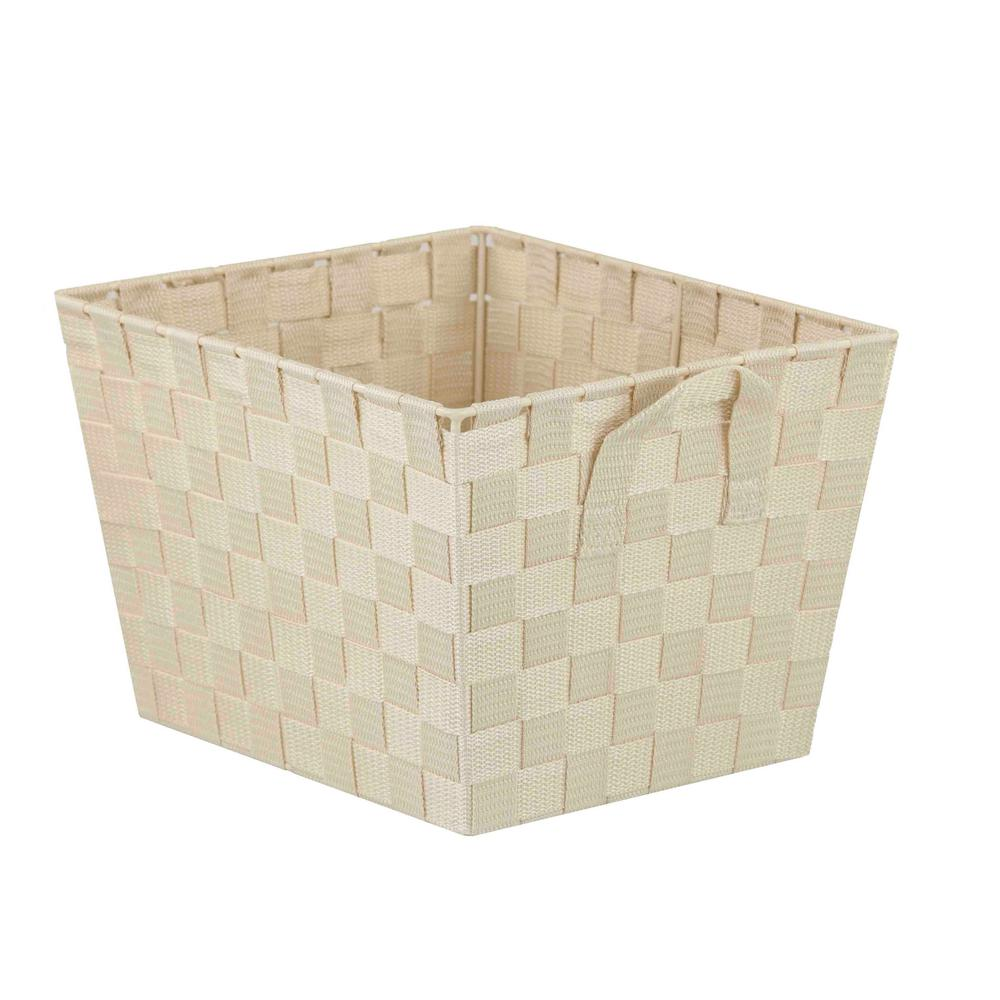 Home Basics 10 in. x 8 in. Ivory Non Stackable Bin
