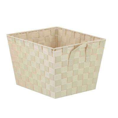 10 in. x 8 in. Ivory Non Stackable Bin