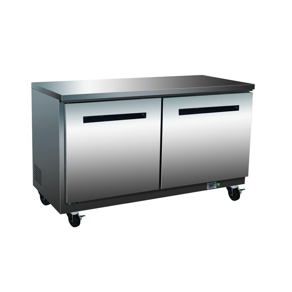 X-Series 12 cu. ft. Double Door Undercounter Commercial Freezer in Stainless