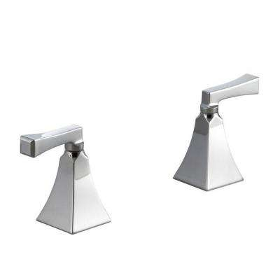 Memoirs Deck-Mount High-Flow Bath Valve Trim with Stately Design and Deco Lever Handles, Polished Chrome