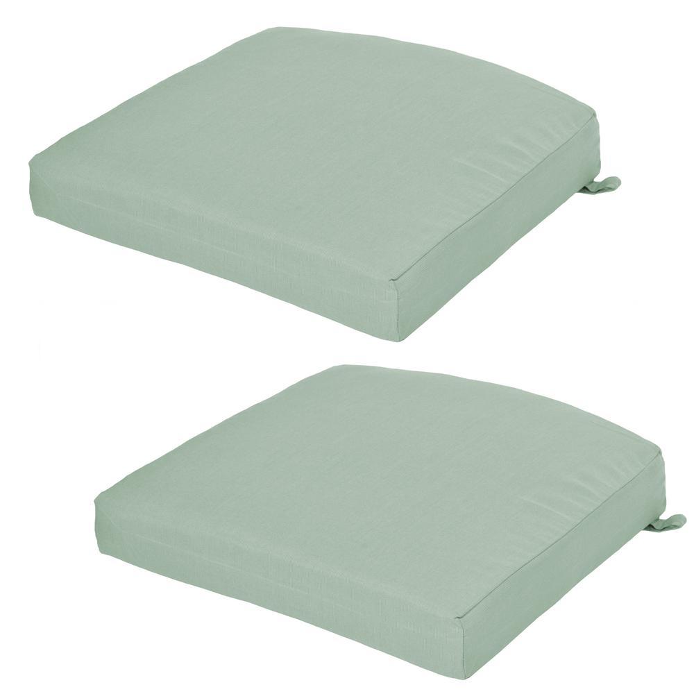 Sunbrella Spectrum Mist Outdoor Seat Cushion 2 Pack