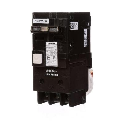 60 Amp Double Pole Type QPF GFCI Circuit Breaker
