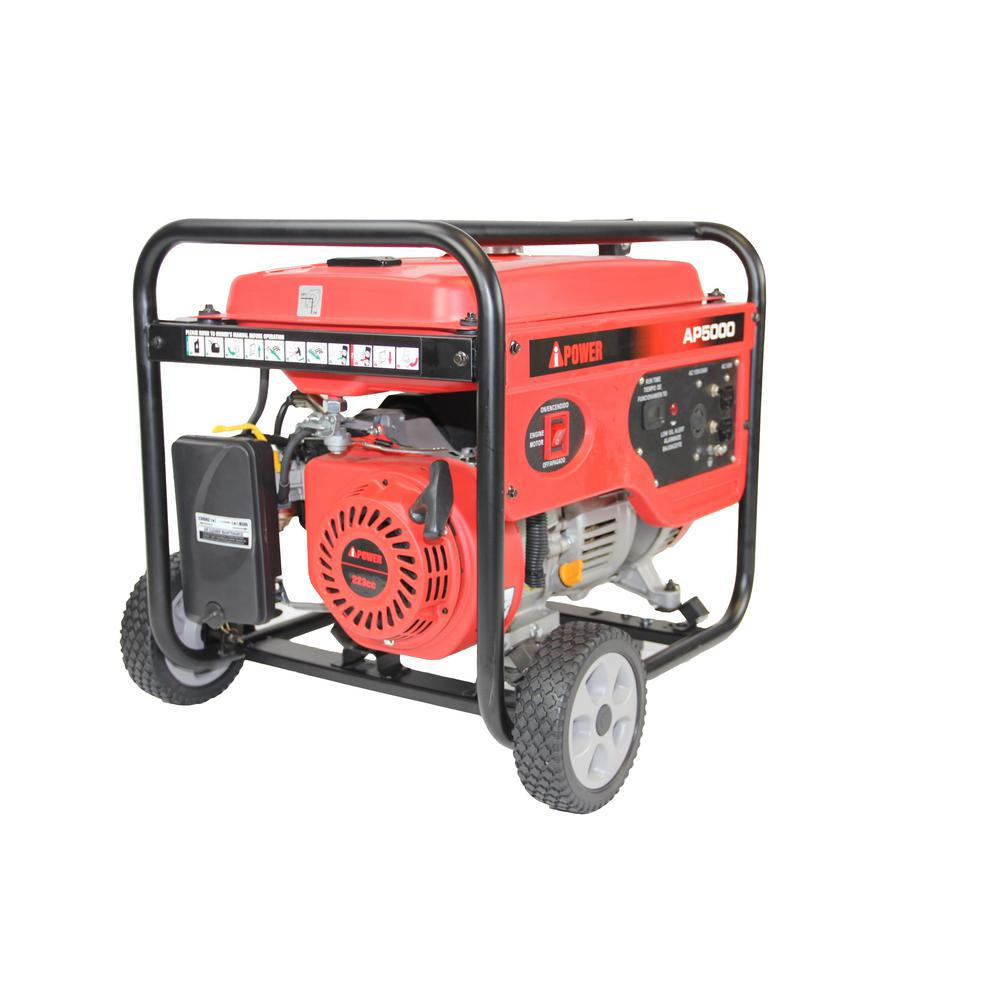 A-iPower 4000-Watt Gasoline Powered Manual Start Portable Generator